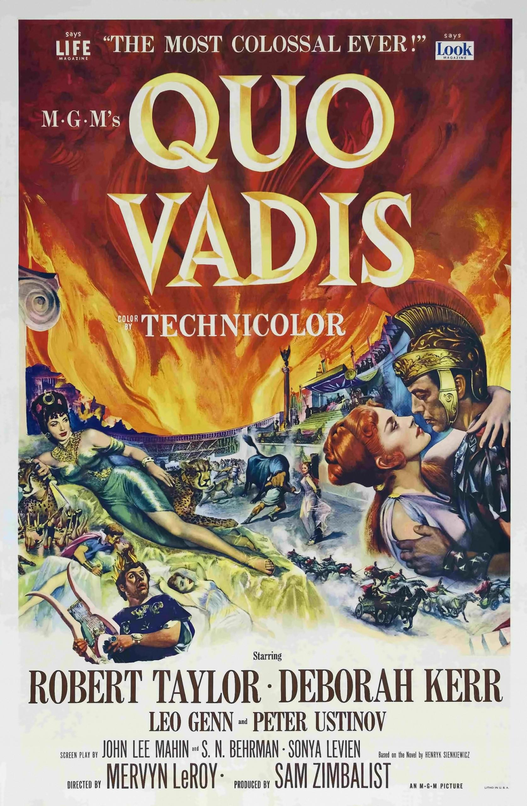 Poster Quo Vadis 1951
