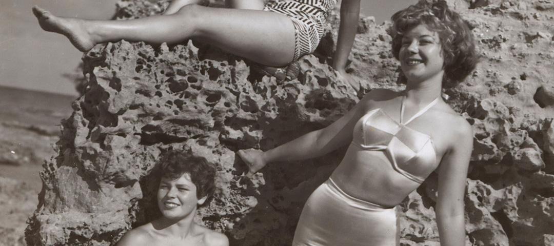 Ragazze in bikini nel 1950