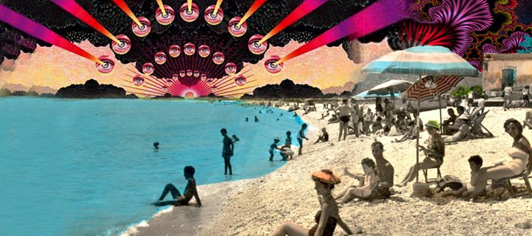spiaggia vista sotto effetto lsd