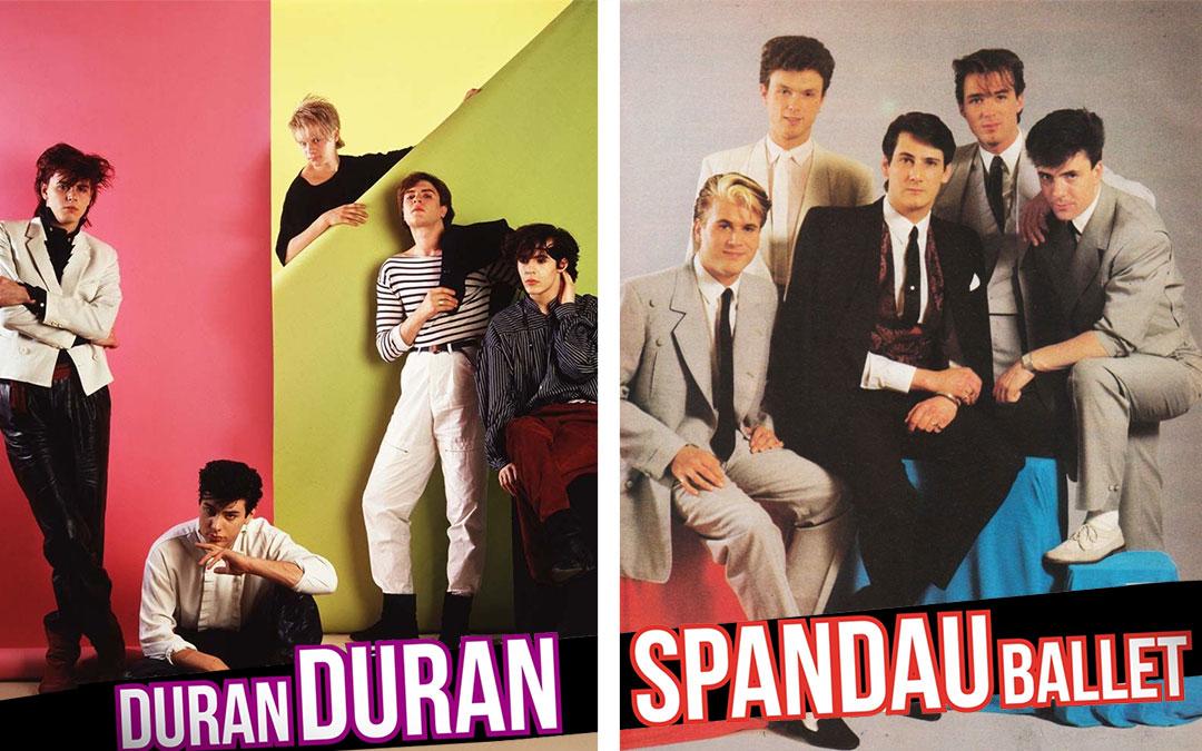 Duran Duran e Spandau Ballet - anni '80