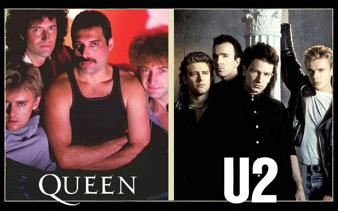 Queen e U2 - anni 80