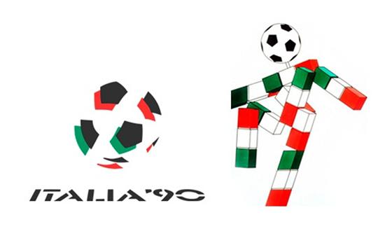 Italia 90 logo e mascotte